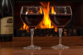 Christmas with wine